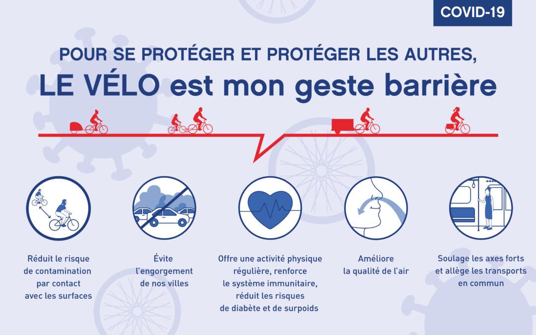 Le vélo est mon geste barrière